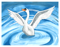 From The Ugly Duckling--Illustration for Amerlish