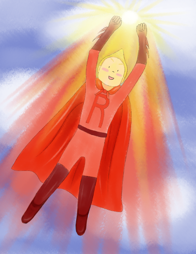 Red Superhero--from The Color War