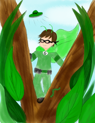 Green Superhero--from The Color War